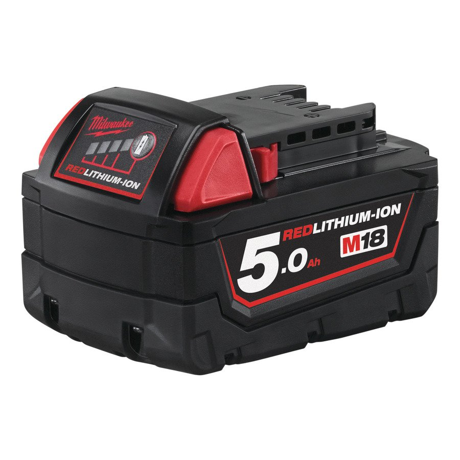 MILWAUKEE 18V 5.0AH RED LITHIUM-ION BATTERY - M18B5