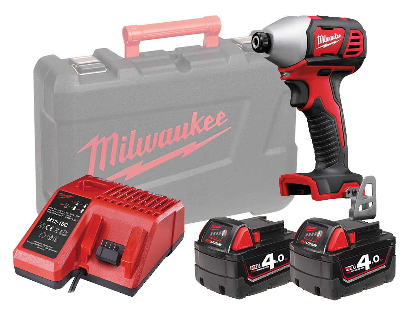 MILWAUKEE 18V BRUSHED IMPACT DRIVER - M18BID - 4.0AH PACK