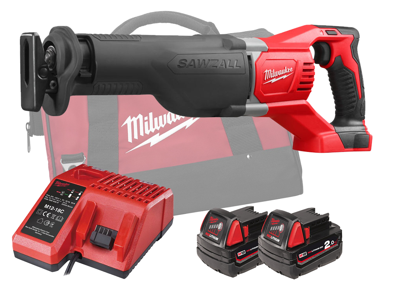 MILWAUKEE 18V BRUSHED RECIPROCATING SAW - M18BSX - 2.0AH PACK