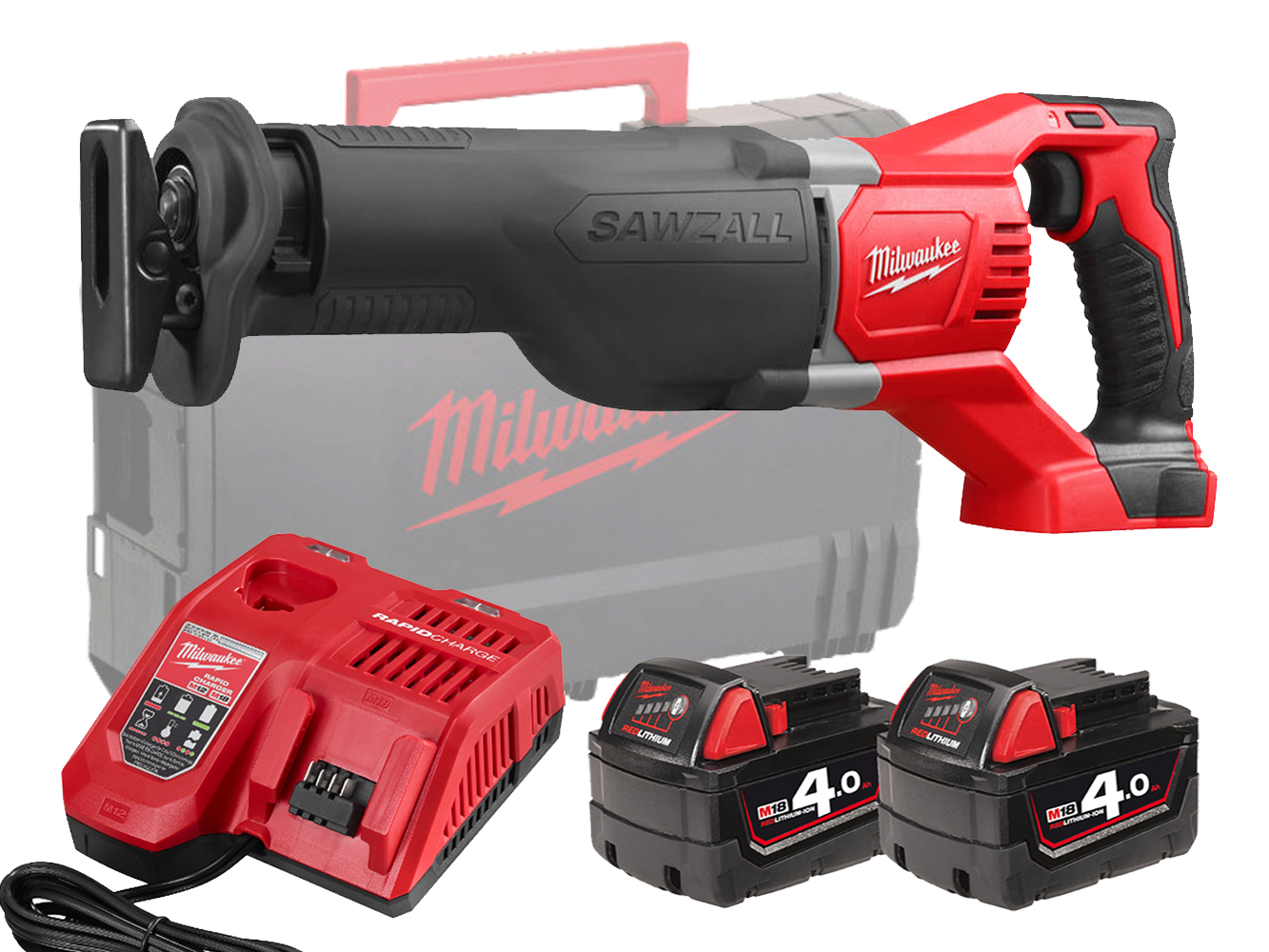 Milwaukee M18BSX 18V Brushed Sawzall (Reciprocating Saw) - 4.0Ah Pack