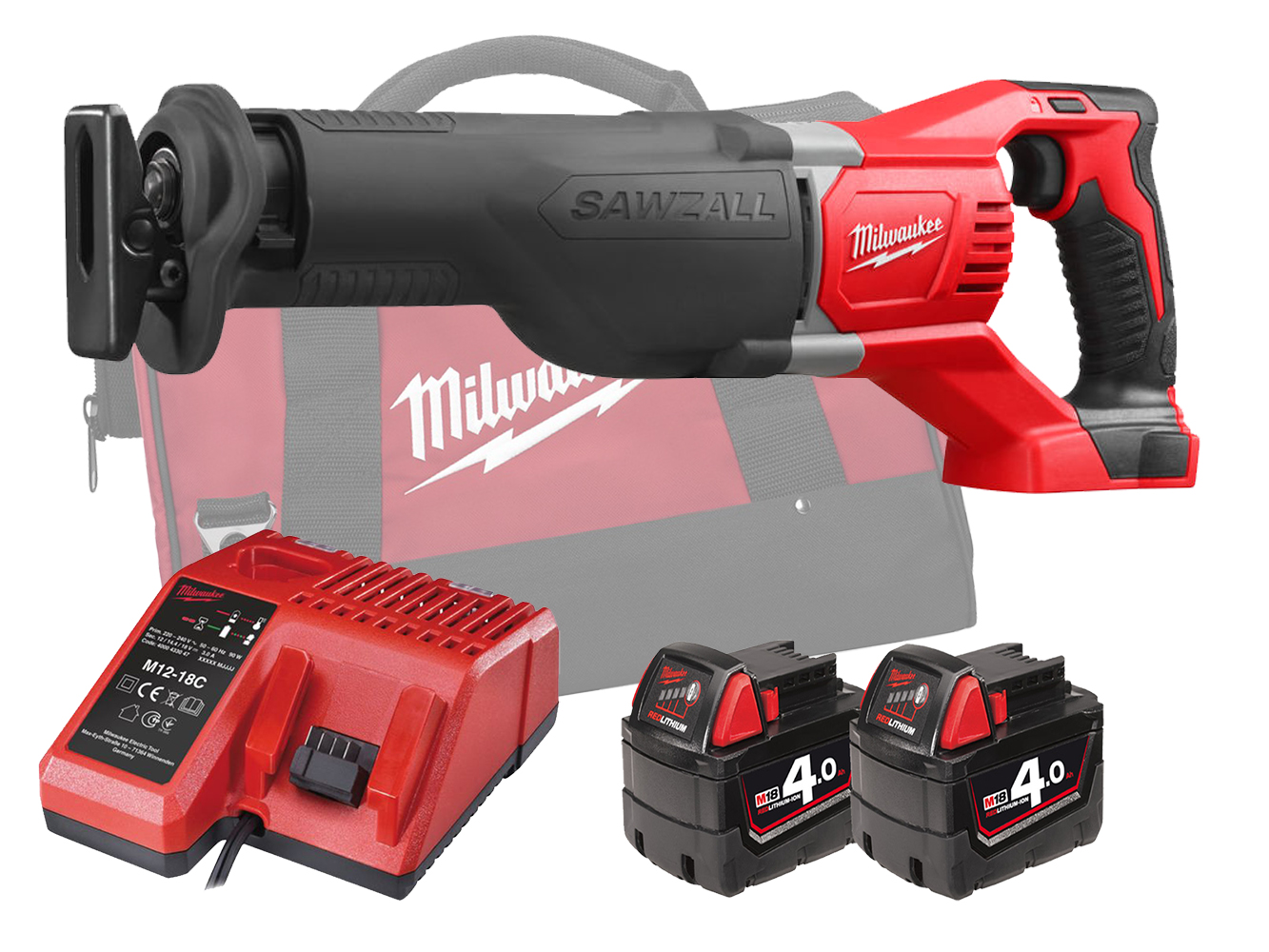MILWAUKEE 18V BRUSHED RECIPROCATING SAW - M18BSX - 4.0AH PACK