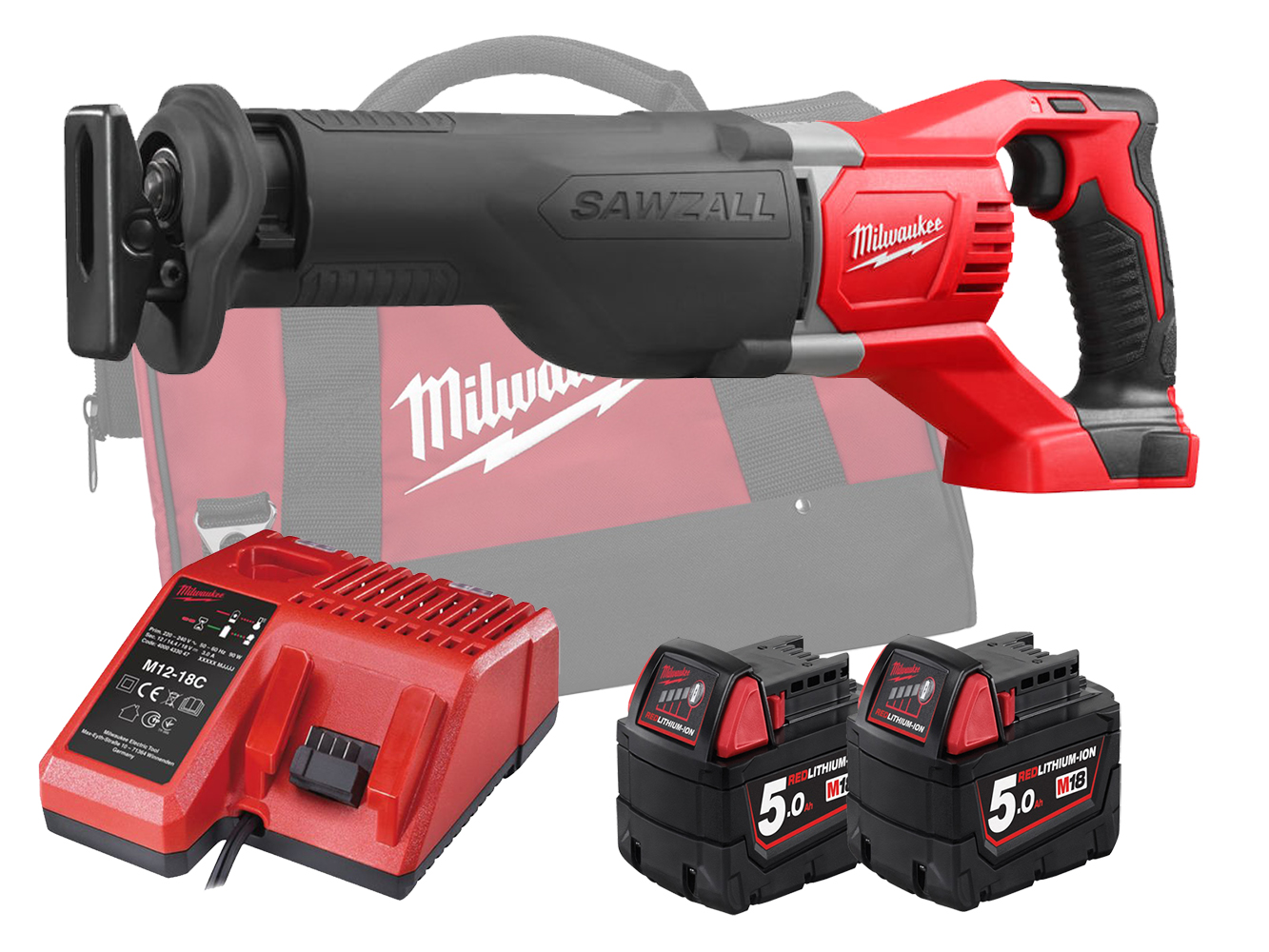MILWAUKEE 18V BRUSHED RECIPROCATING SAW - M18BSX - 5.0AH PACK