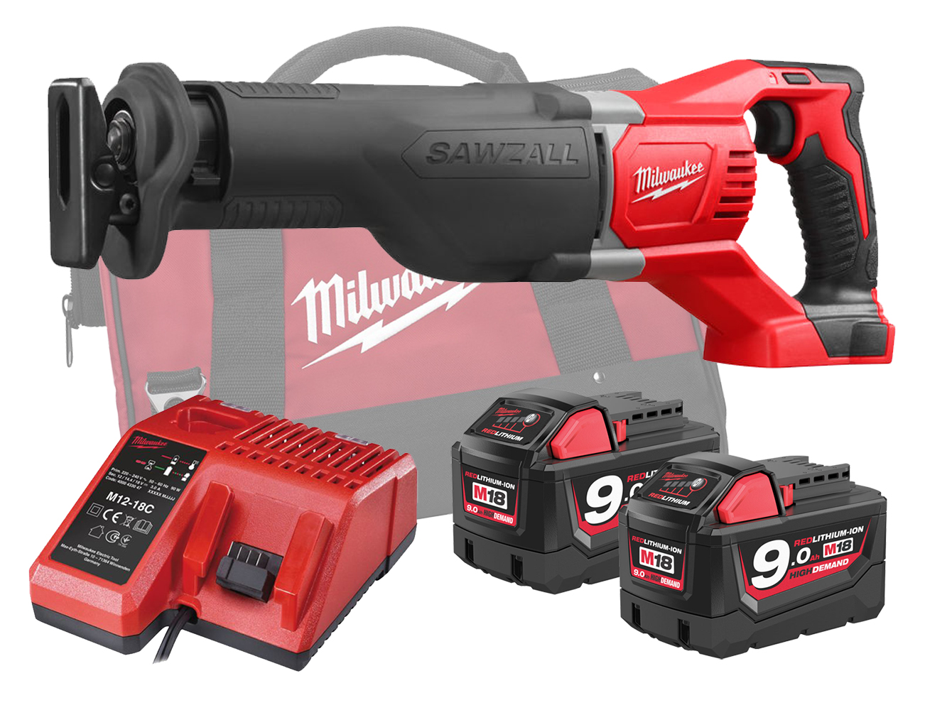 MILWAUKEE 18V BRUSHED RECIPROCATING SAW - M18BSX - 9.0AH PACK