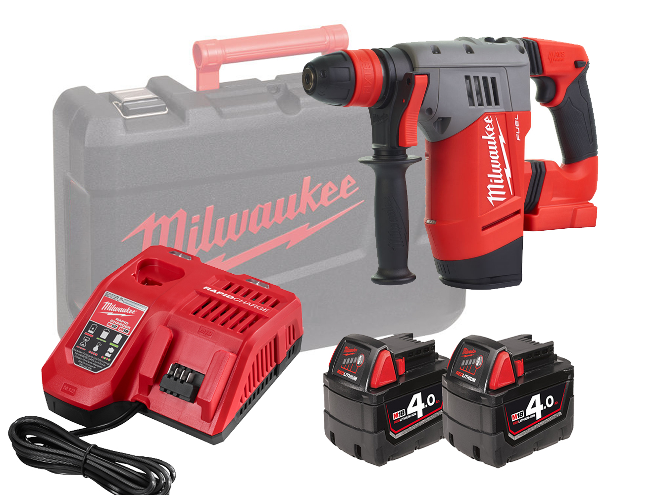 Milwaukee M18CHPX 18V Fuel High Performance SDS+ Hammer - 4.0Ah Pack