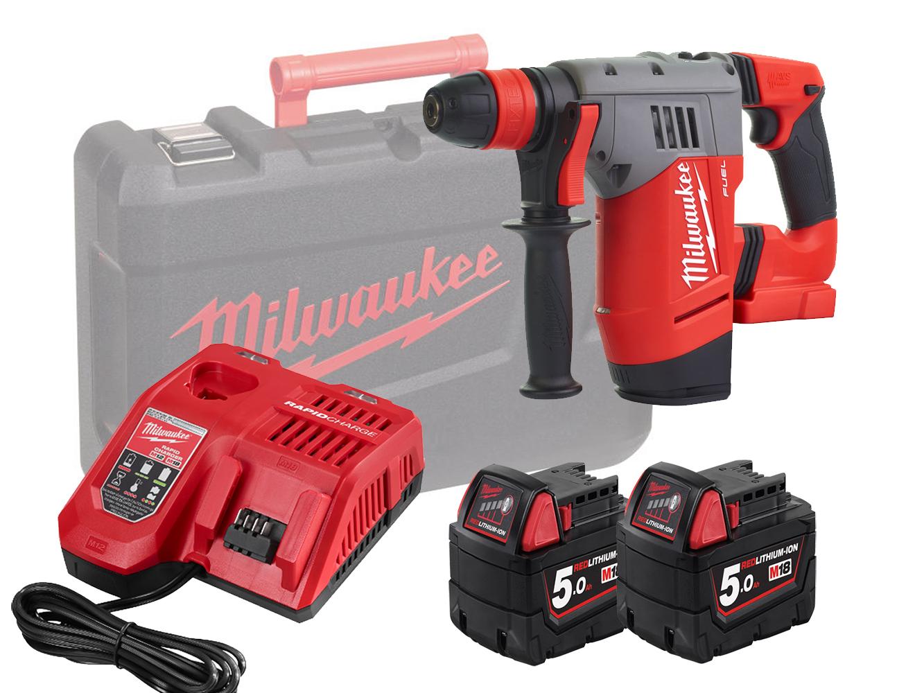 Milwaukee M18CHPX 18V Fuel High Performance SDS+ Hammer - 5.0Ah Pack