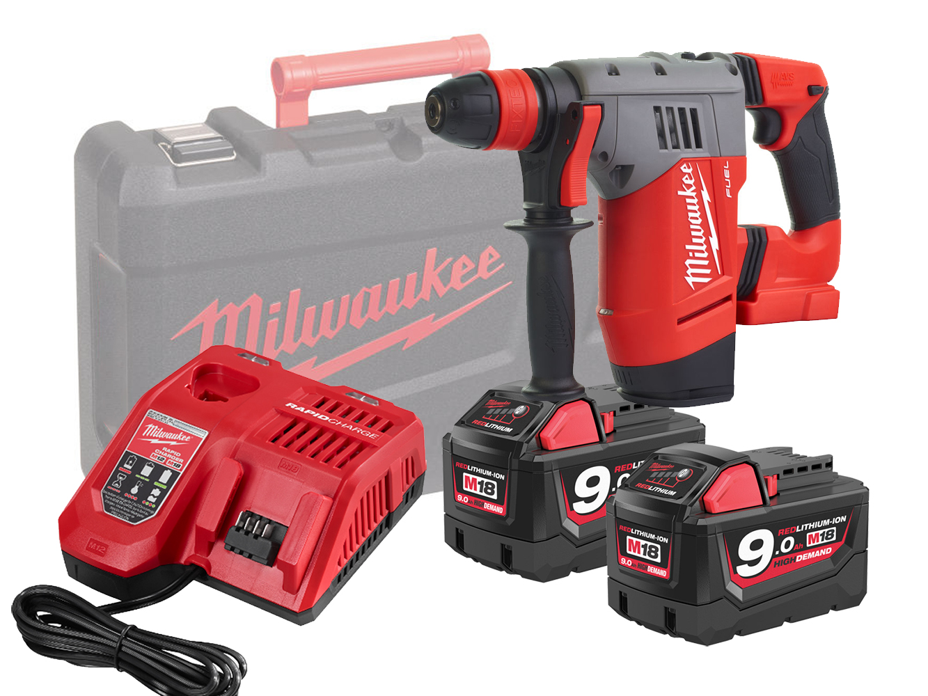 Milwaukee M18CHPX 18V Fuel High Performance SDS+ Hammer - 9.0Ah Pack
