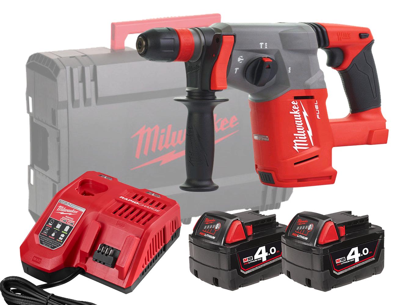 Milwaukee M18CHX 18V Fuel Brushless SDS+ 3-Mode Hammer Drill - 4.0Ah Pack