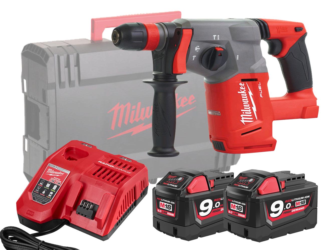 Milwaukee M18CHX 18V Fuel Brushless SDS+ 3-Mode Hammer Drill - 9.0Ah Pack