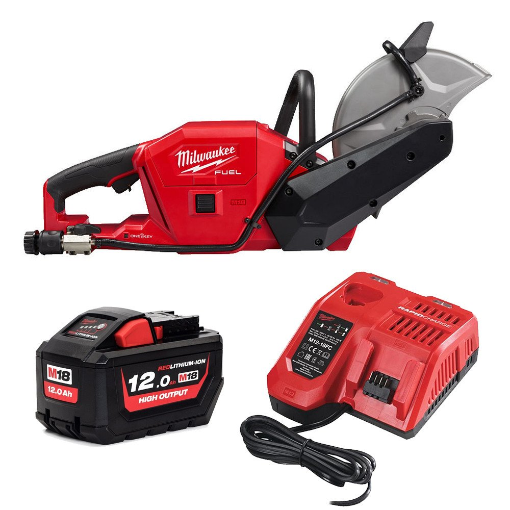 Milwaukee M18FCOS230 18V 230mm Cut-Off Saw One-Key Brushless - 12.0Ah Pack