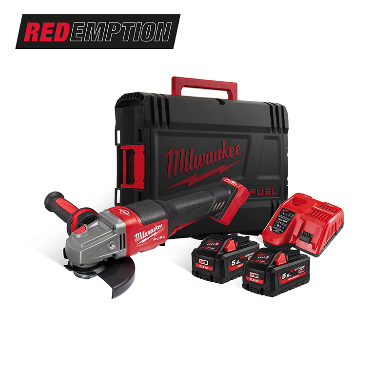 Milwaukee M18FHSAG125XPDB-552X 18V Fuel 125mm High Performance Angle Grinder - 5.5Ah Pack