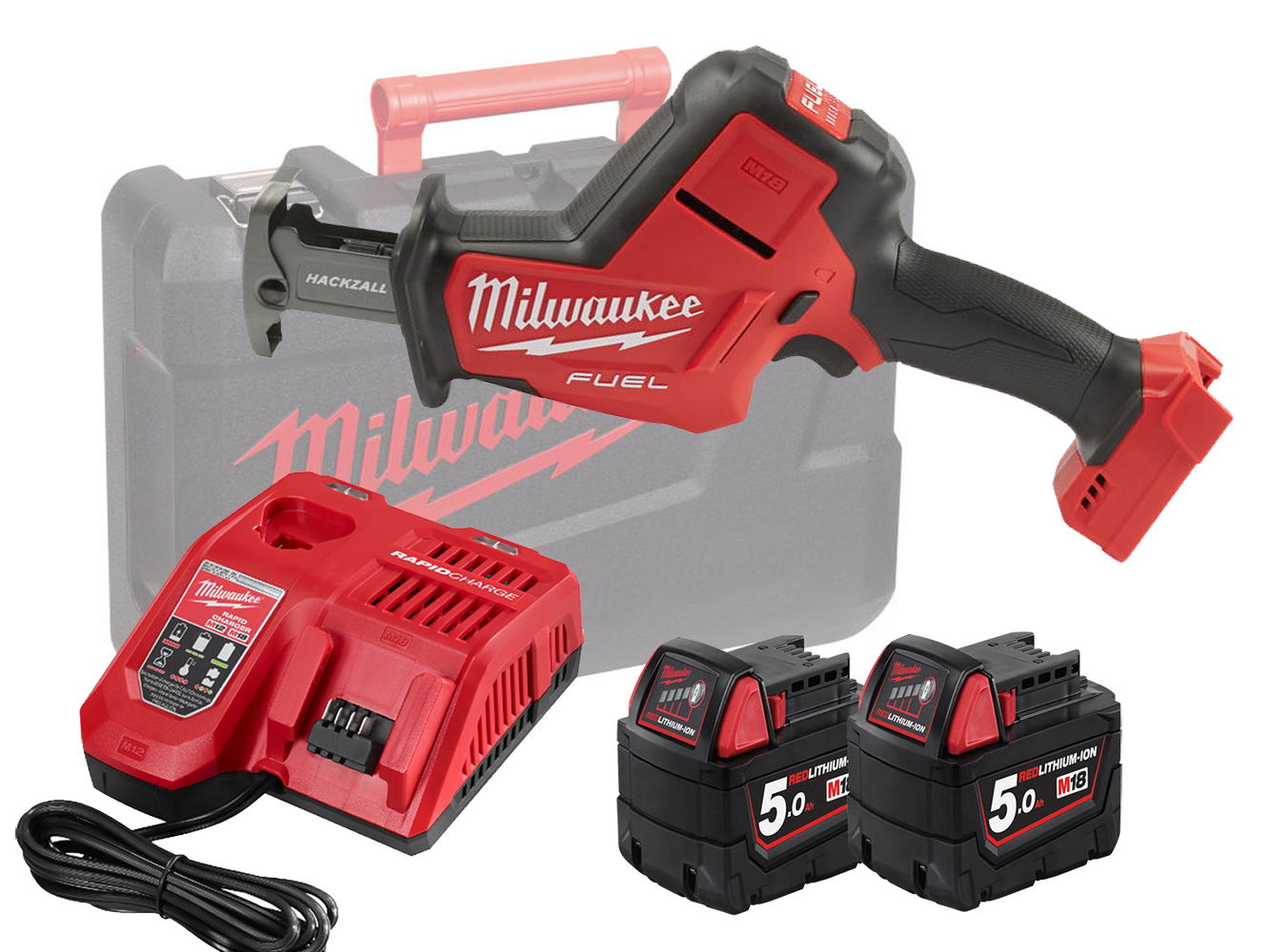 Milwaukee M18FHZ 18V Fuel Brushless Hackzall (Reciprocating Saw) - 5.0Ah Pack