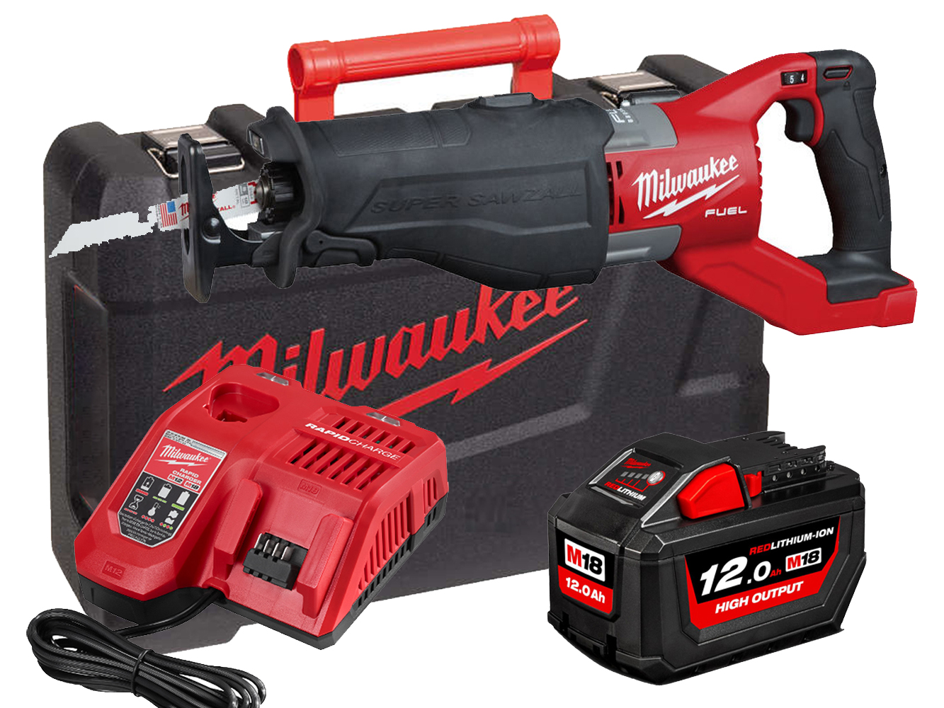 Milwaukee M18FSX 18V Fuel Super Sawzall (Reciprocating Saw) - 12.0Ah Pack