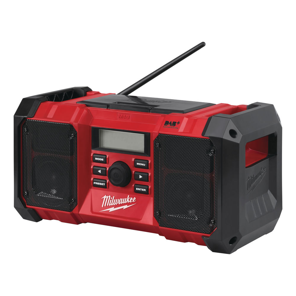 MILWAUKEE 18V & 240V JOBSITE FM RADIO & DAB - M18JSRDAB+ - BODY ONLY
