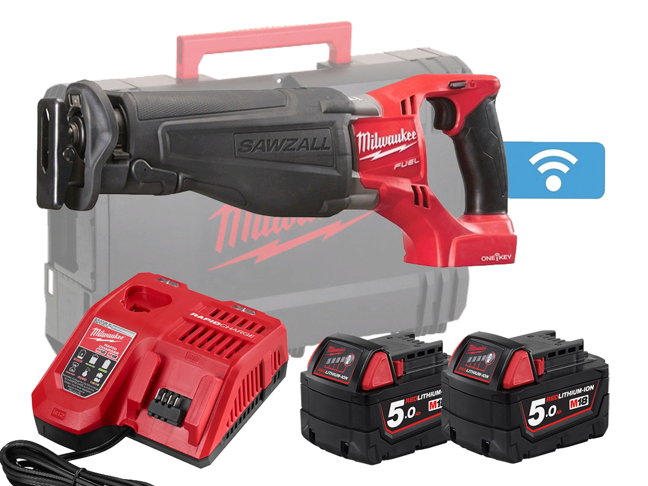 Milwaukee M18ONESX 18V Fuel One-Key Sawzall (Reciprocating Saw) - 5.0Ah Pack
