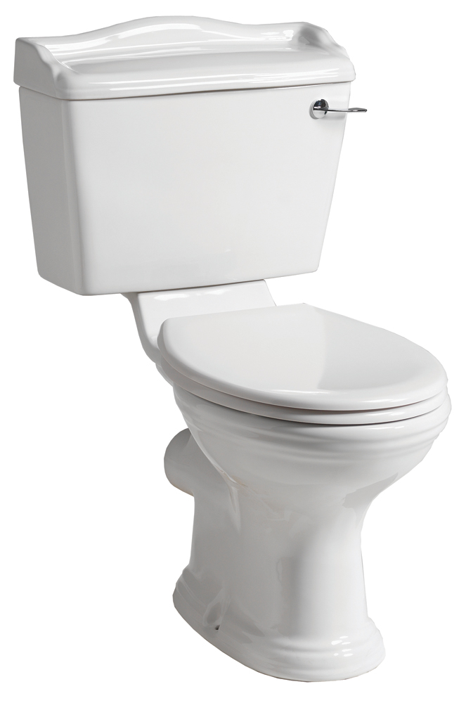 QX MIRABELLE COTTAGE WC CLOSE COUPLED PAN / CISTERN & SOFT CLOSE SEAT