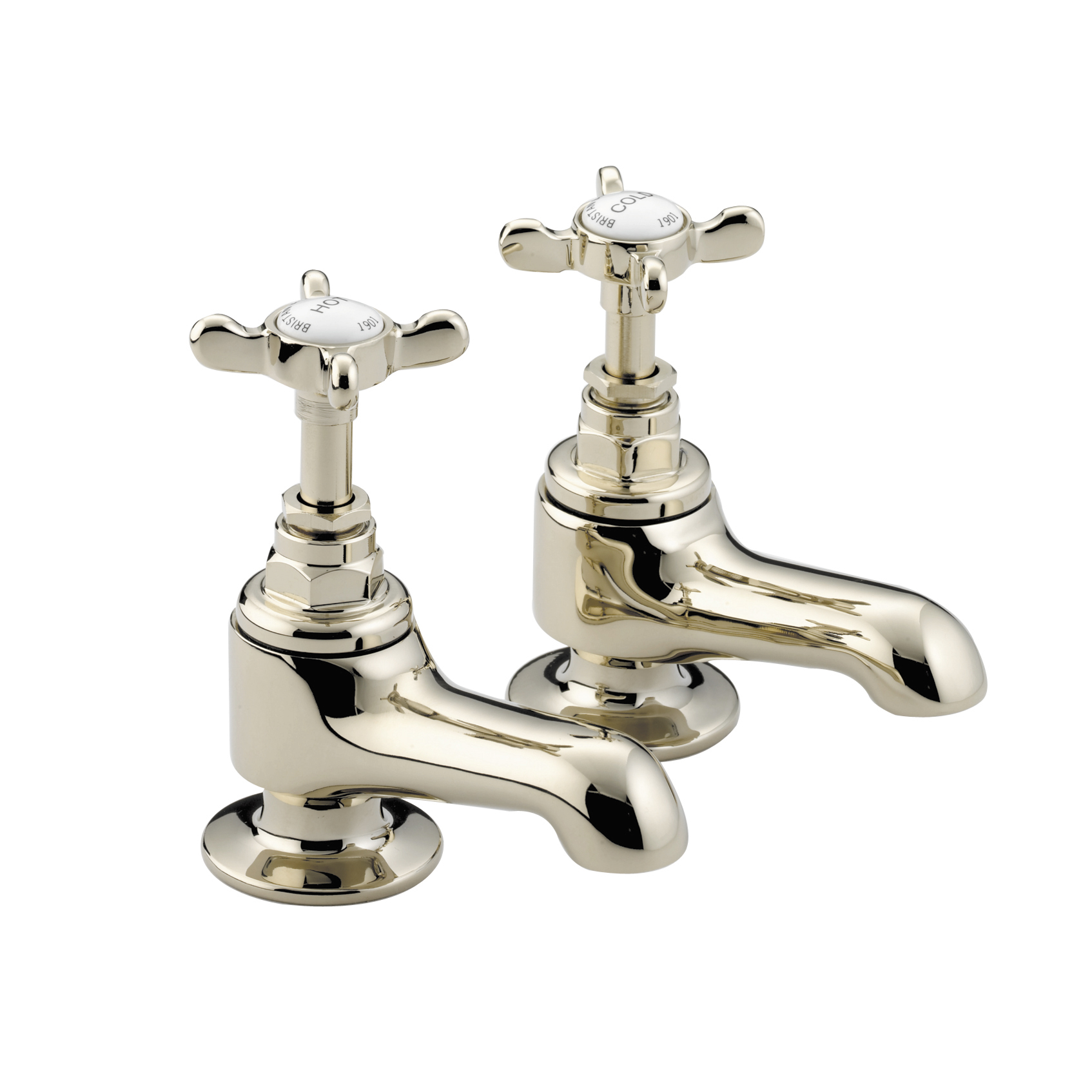 BRISTAN 1901 BATH PILLAR TAPS GOLD