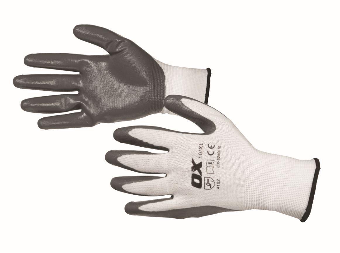 OX Safety Nitrile Flex Gloves Size 10 Extra Large (XL)