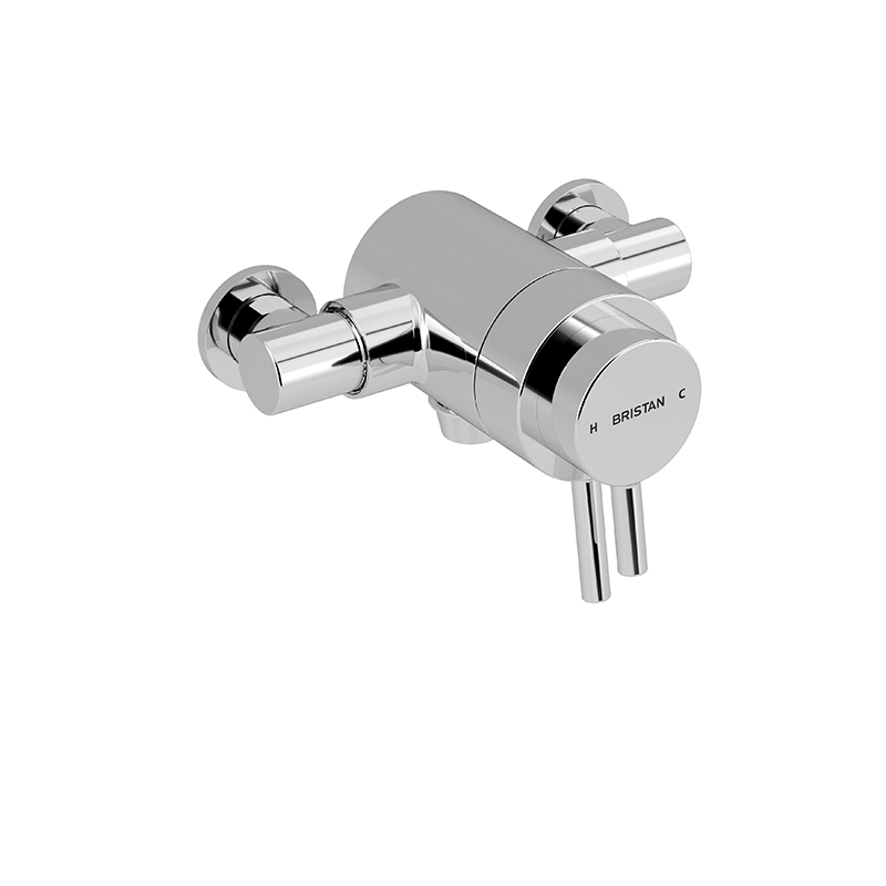 BRISTAN PRISM EXPOSED THERMOSTATIC DUAL CONTROL SHOWER (BOTTOM OUTLET) - PM2 CSHXVO C