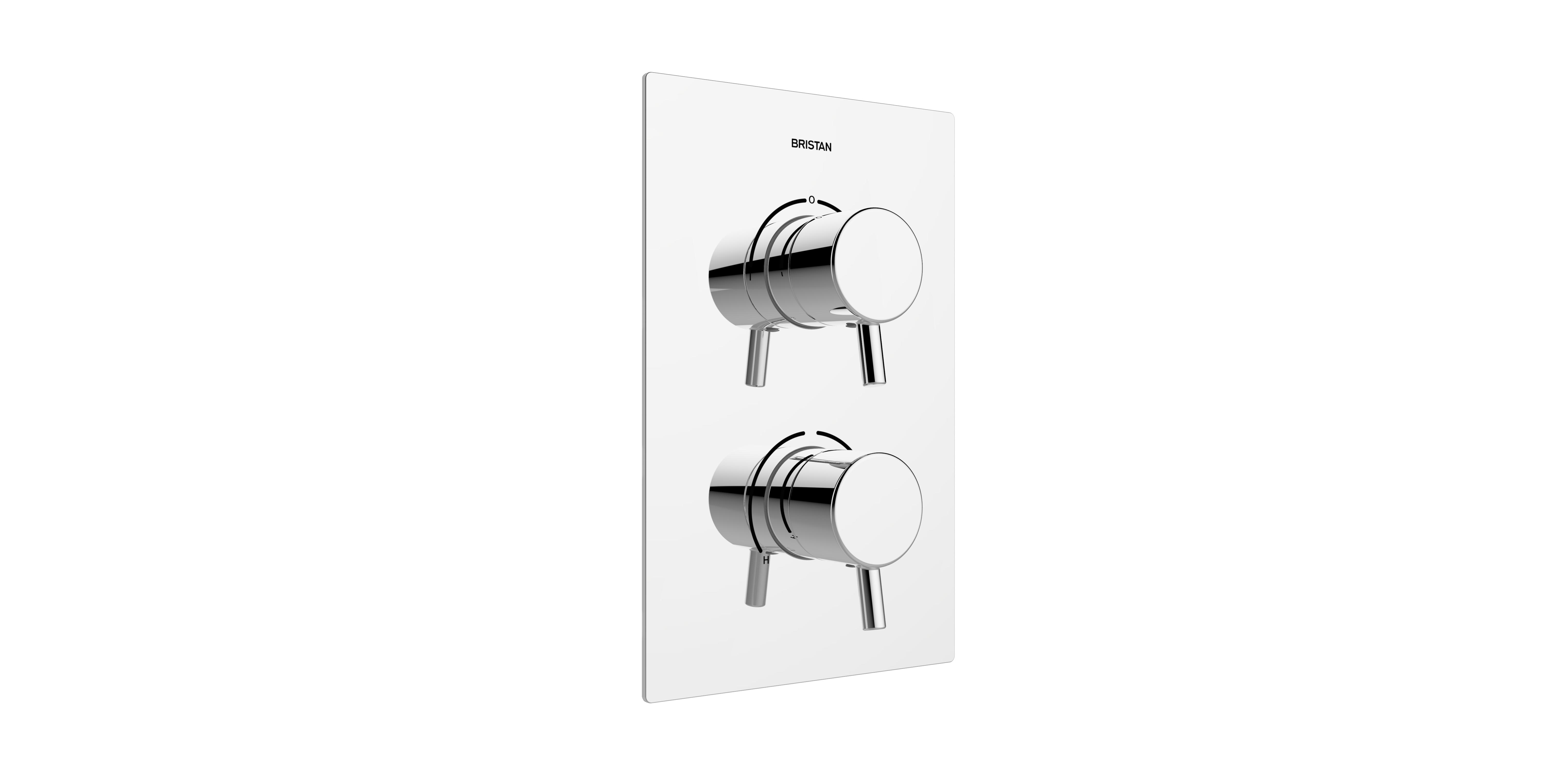 BRISTAN PRISM THERMOSTATIC RECESSED DUAL CONTROL SHOWER VALVE WITH INTEGRAL TWO OUTLET DIVERTER - PM2 SHCDIV C