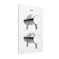 BRISTAN PRISM THERMOSTATIC RECESSED DUAL CON SHOWER VALVE SGL OUTLET - PM2 SHCVO C
