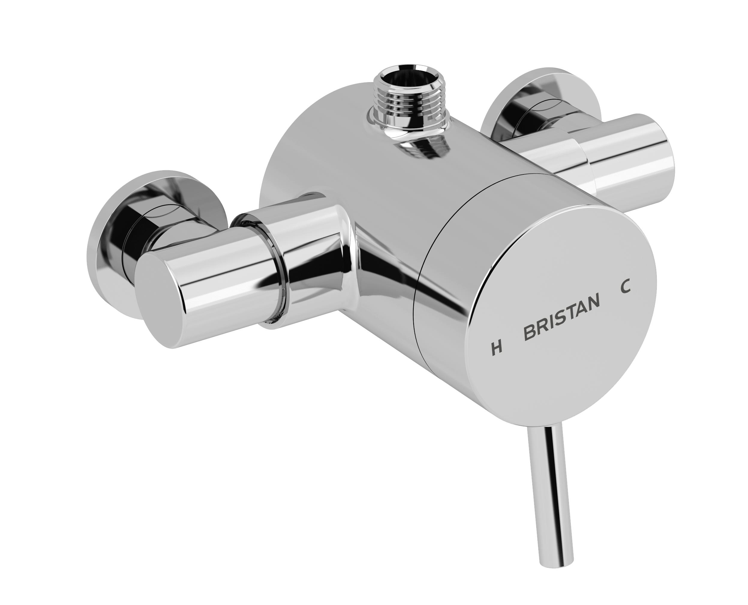 BRISTAN PRISM THERMOSTATIC EXPOSED SINGLE CONTROL SHOWER VALVE (TOP OUTLET) - PM2 SQSHXTVO C