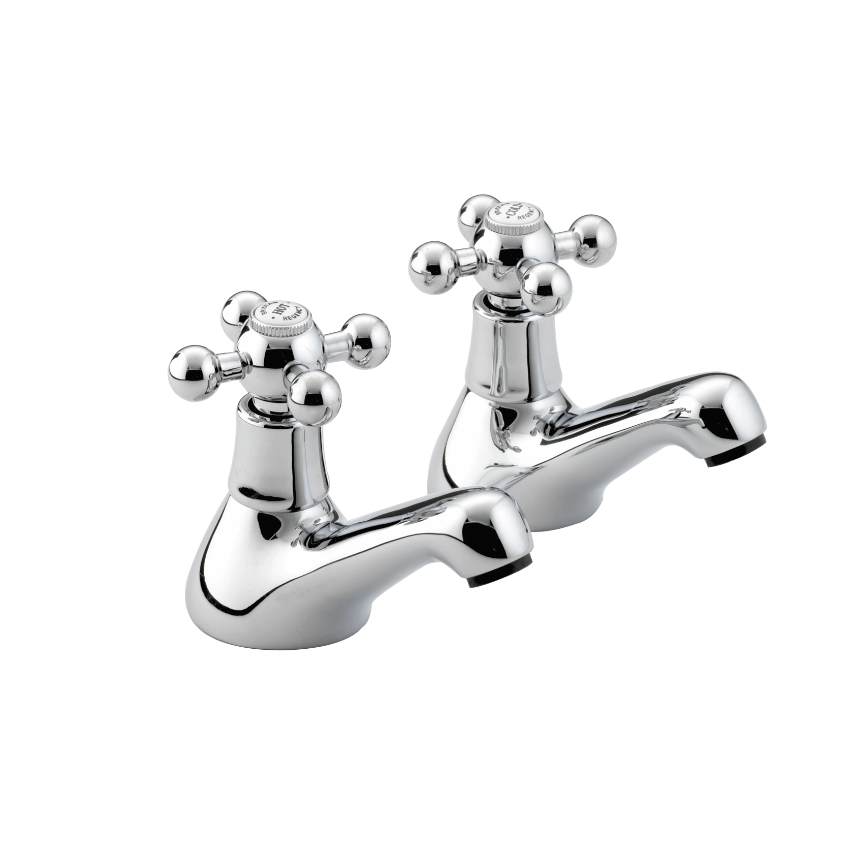 BRISTAN REGENCY BATH TAPS CHROME (PAIR)