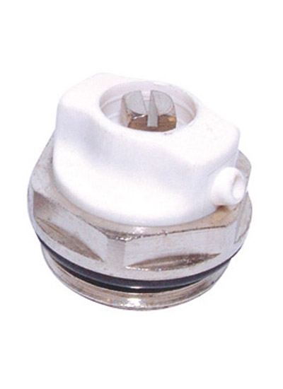 Radiator Air Vent Plug 1/2in Bsp - White/Chrome