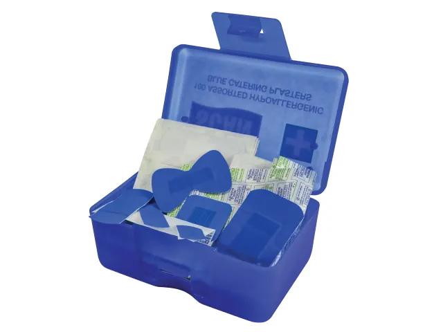 Scan Hypoallergenic Blue Plasters 120Pk Assorted