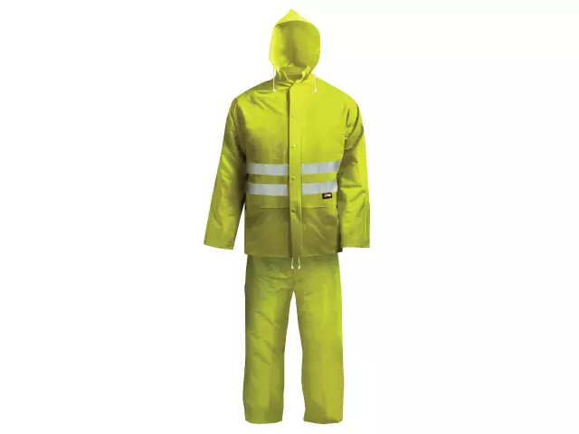 SCAN HI-VISIBILITY RAIN SUIT YELLOW - XXL (45-49IN)