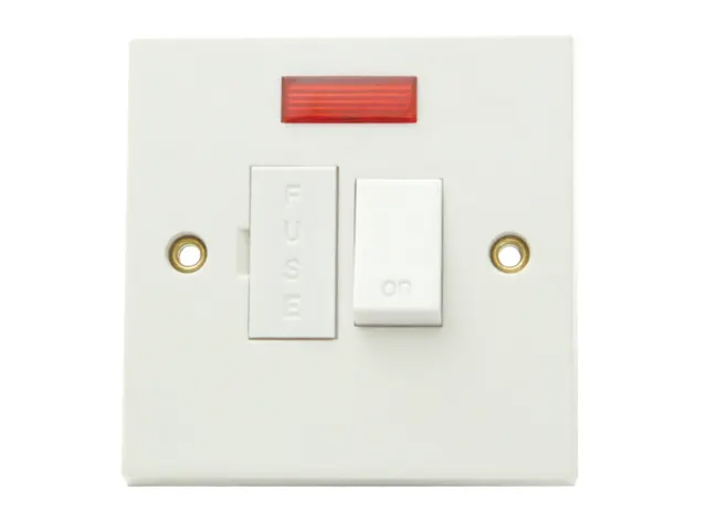 SMJ SWITCHED FUSED SPUR CONNECTION UNIT WITH NEON 13 AMP - W13SCNC