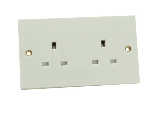 SMJ 2 GANG UNSWITCHED SOCKET 13A - W2GUSC