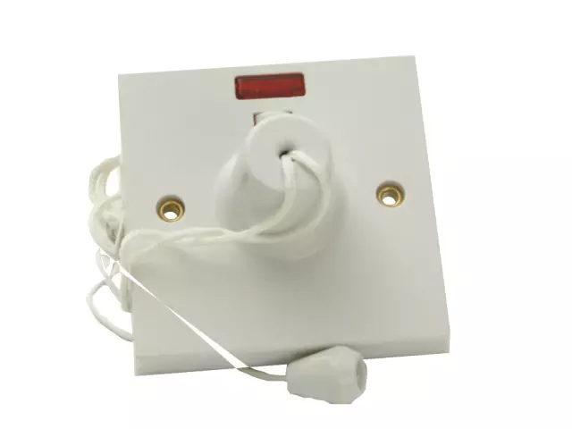 SMJ 45A CEILING SWITCH DOUBLE POLE WITH NEON WHITE - W45CSC