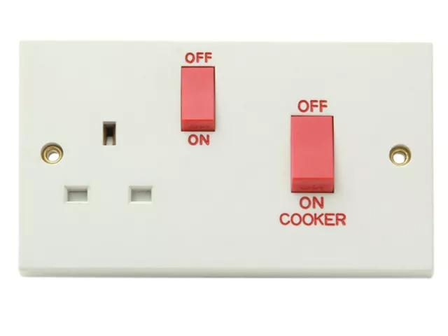 SMJ COOKER CONTROL 45A SWITCH SOCKET WHITE - W45CUC