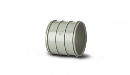 Polypipe 82mm / 3In Soil Solvent Double Socket Coupling Grey