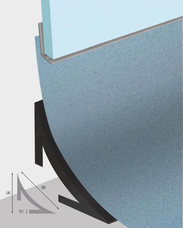 MULTIPANEL WETFLOR COVING PROFILE 1.9M - TYPE 18