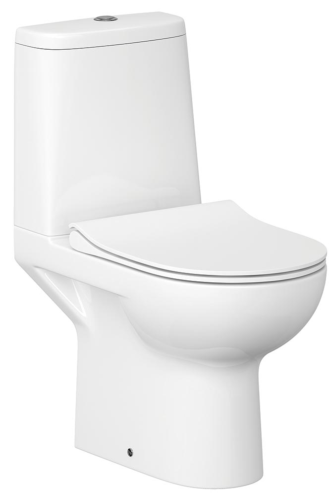 QX STREET FUSION CLOSE COUPLED WC PAN / CISTERN & SOFT CLOSE SEAT