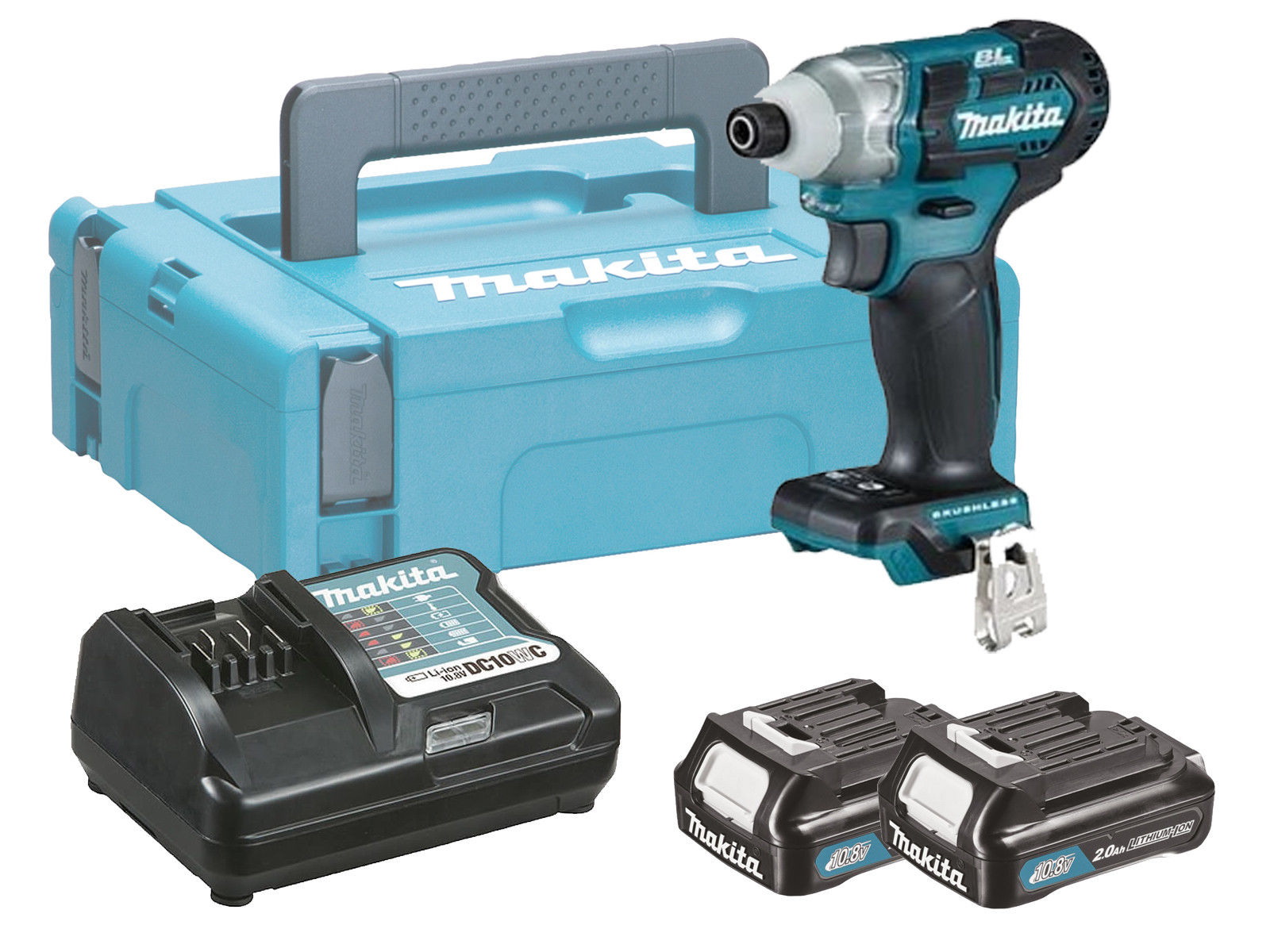 MAKITA 10.8V CXT BRUSHLESS IMPACT DRIVER - 2.0AH PACK