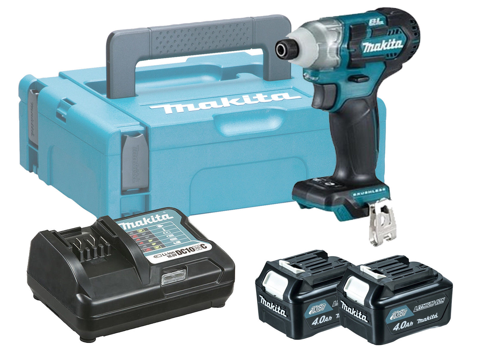 MAKITA 10.8V CXT BRUSHLESS IMPACT DRIVER - 4.0AH PACK