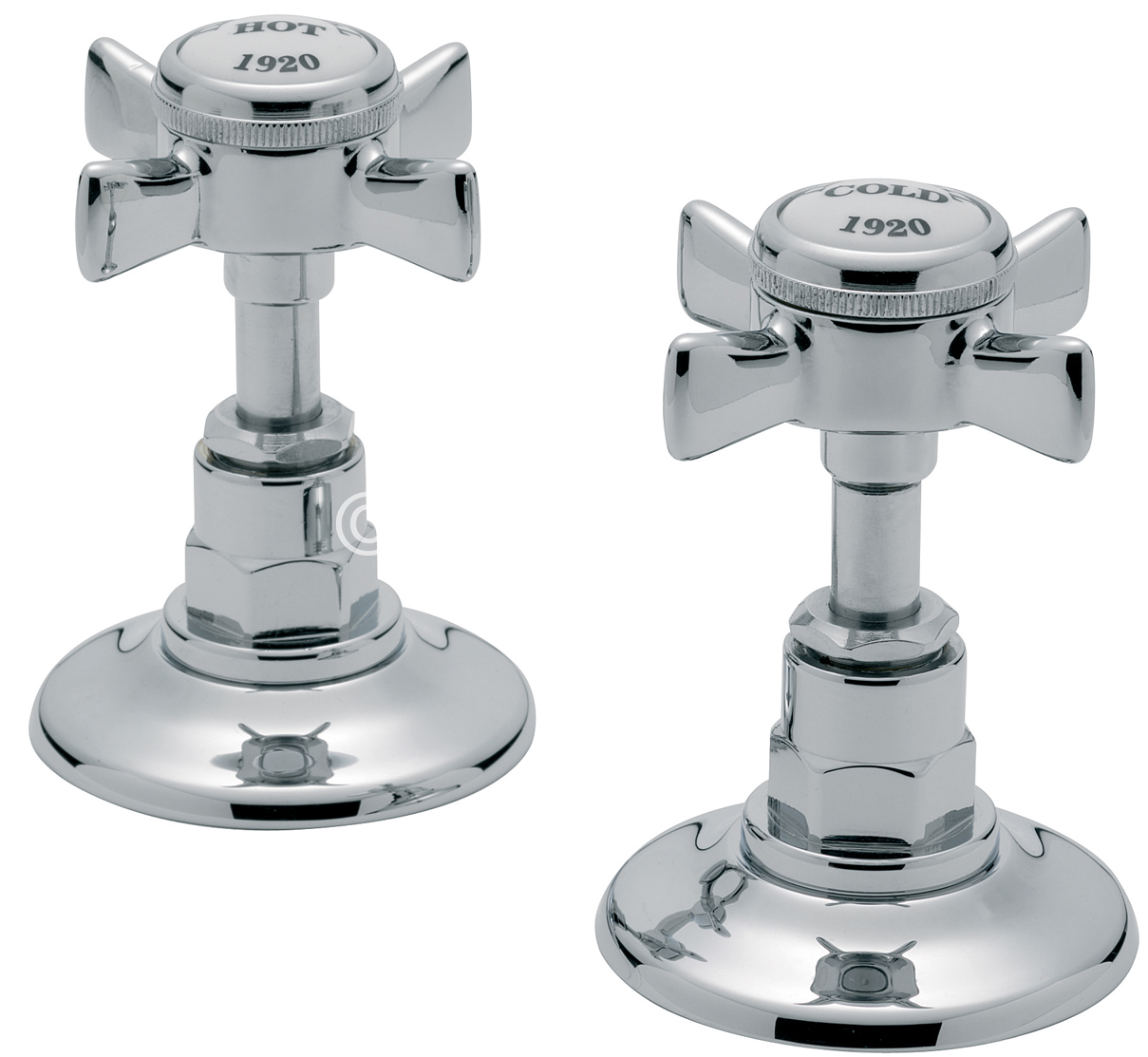 "TRE MERCATI IMPERIAL PAIR OF 1/2""   SIDE VALVES CHROME PLATED"