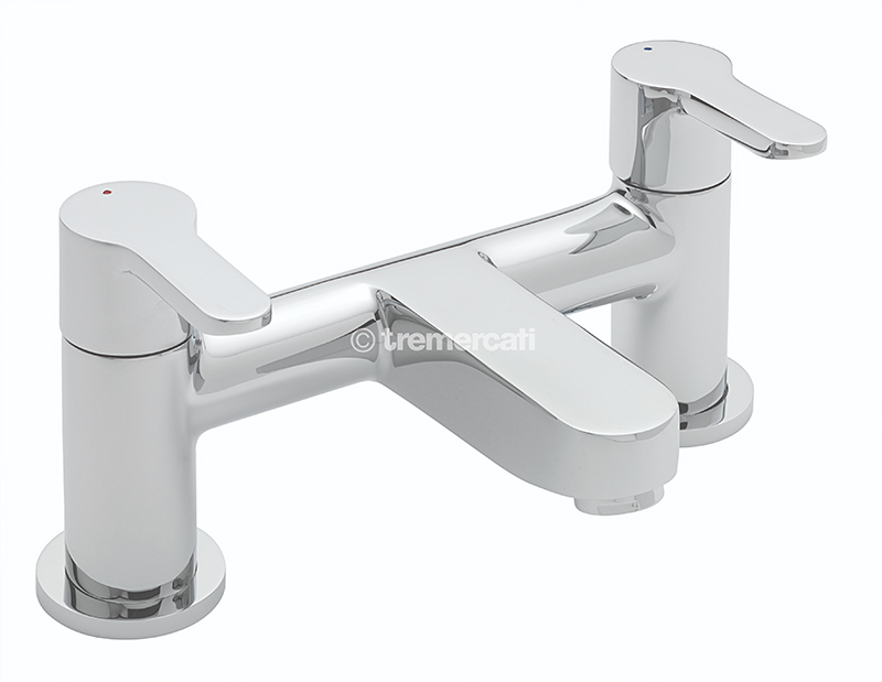 TRE MERCATI LOLLIPOP PILLAR BATH FILLER CHROME PLATED