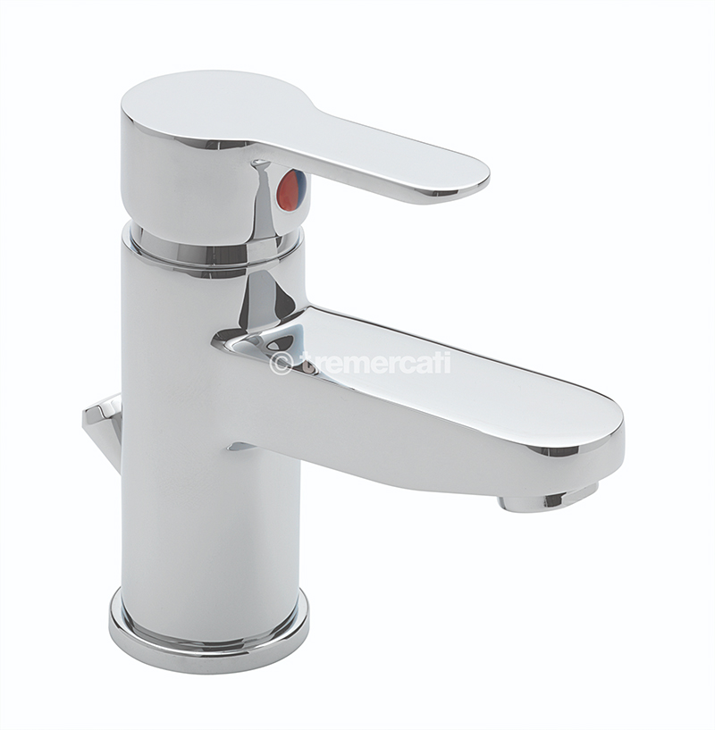 TRE MERCATI LOLLIPOP MONO BASIN MIXER WITH POP-UP WASTE CHROME PLATED