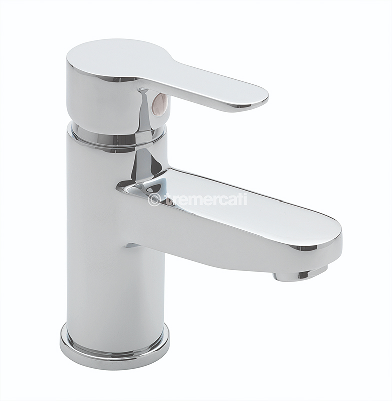 TRE MERCATI LOLLIPOP MONO BASIN MIXER WITH CLICK CLACK WASTE CHROME PLATED