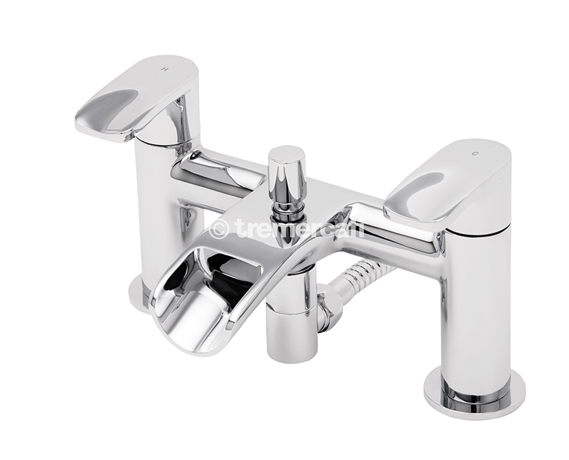 TRE MERCATI ORA PILLAR BATH SHOWER MIXER COMPLETE WITH KIT CHROME PLATED