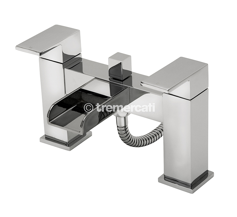 TRE MERCATI GEYSIR PILLAR BATH SHOWER MIXER COMPLETE WITH KIT CHROME PLATED