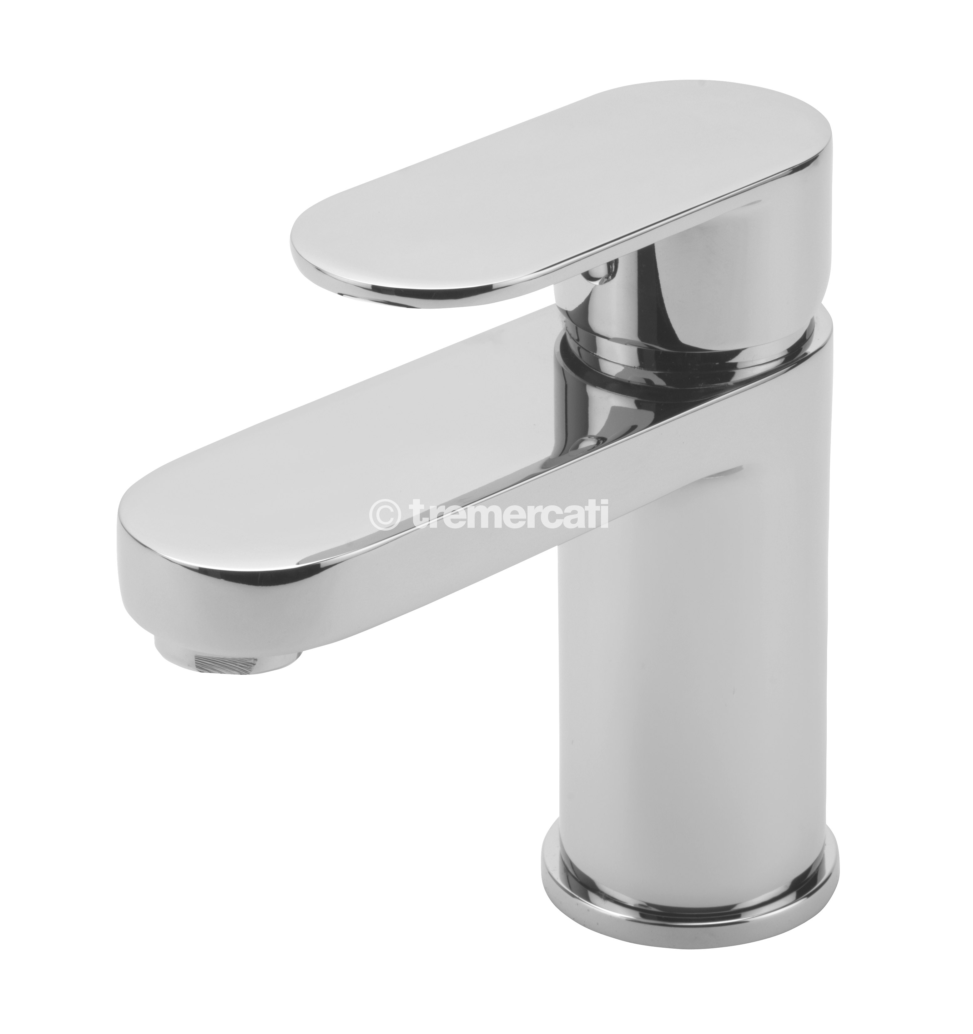 TRE MERCATI GECO MONO BASIN MIXER WITH CLICK CLACK WASTE CHROME PLATED