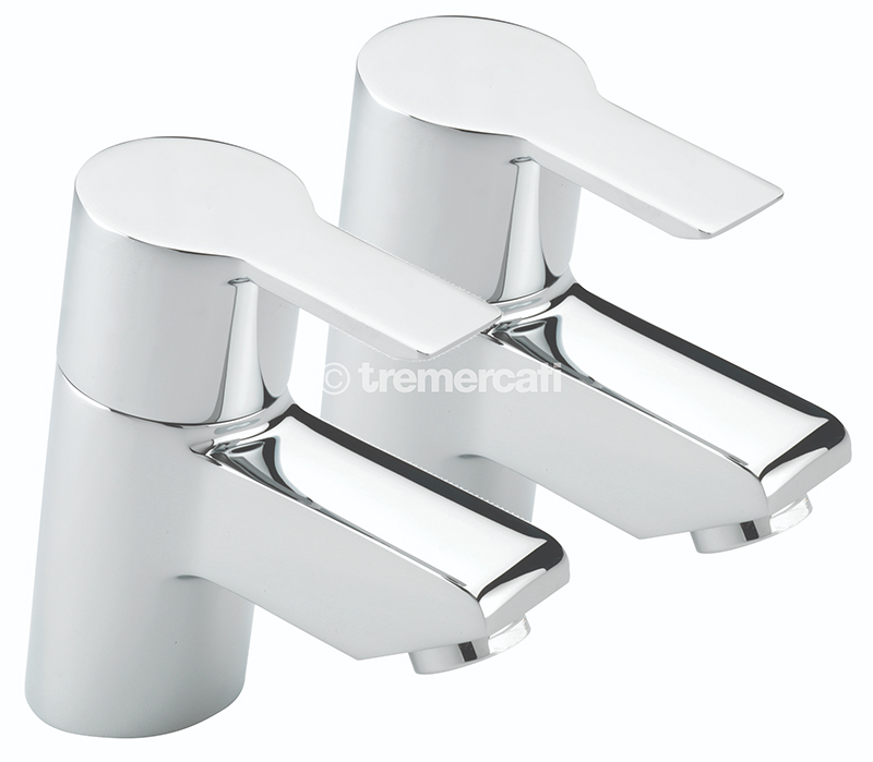 TRE MERCATI ANGLE PAIR OF BASIN TAPS CHROME PLATED