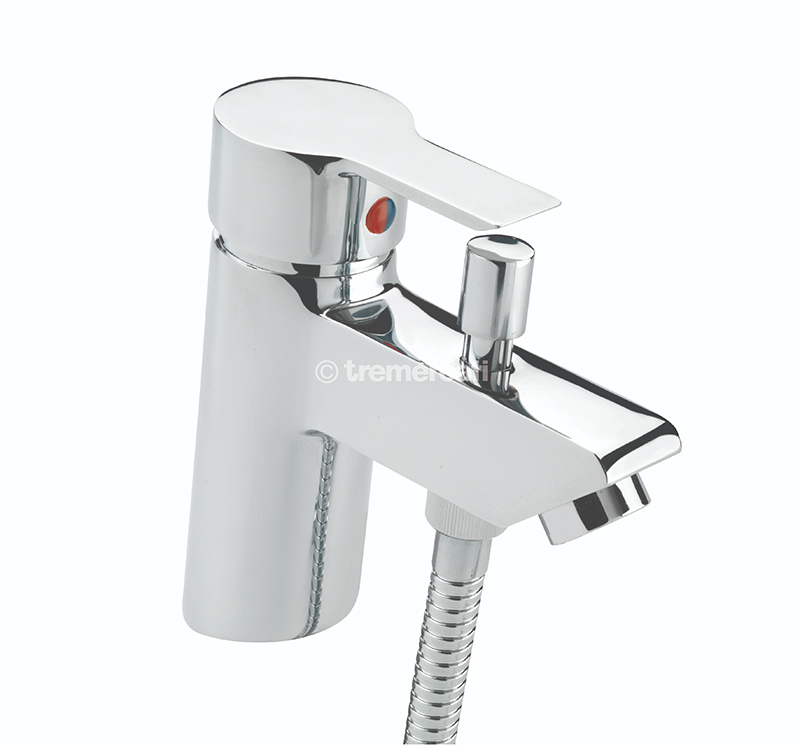 TRE MERCATI ANGLE MONO BATH SHOWER MIXER COMPLETE WITH KIT CHROME PLATED