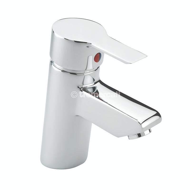 TRE MERCATI ANGLE MONO BASIN MIXER WITH CLICK CLACK WASTE CHROME PLATED