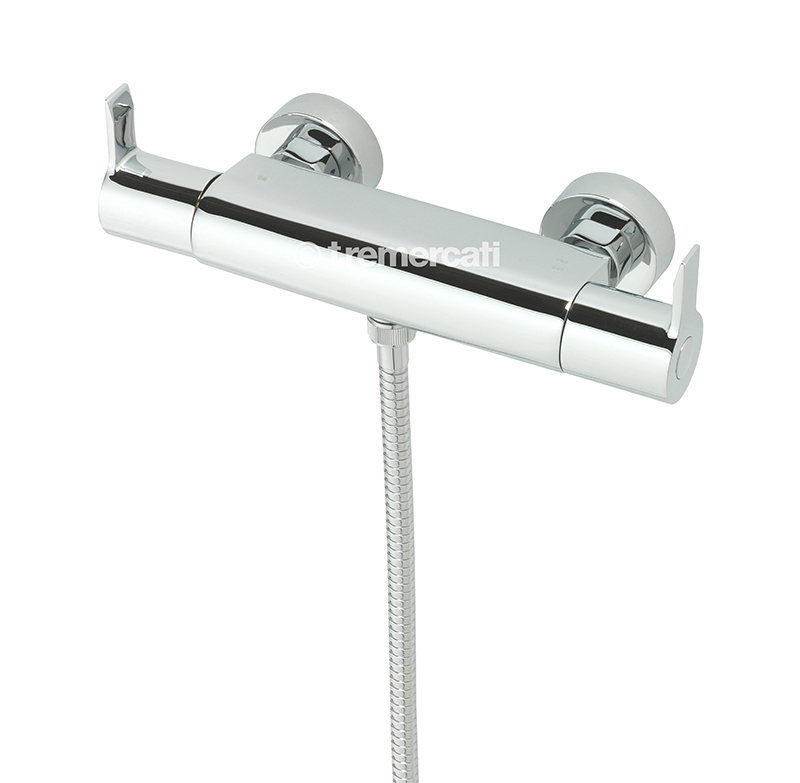 TRE MERCATI ANGLE EXPOSED THERMOSTATIC SHOWER VALVE CHROME PLATED