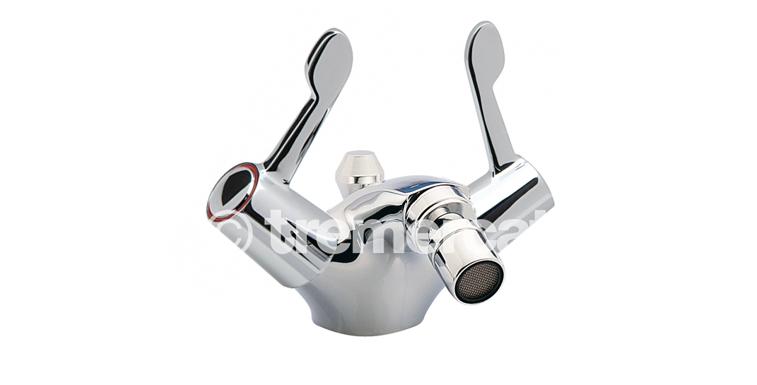 "TRE MERCATI CAPRI LEVER MONO BIDET MIXER WITH POP UP WASTE -CERAMIC DISC VALVES -3"" LEVERS CHROME PLATED"